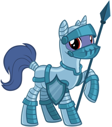 Size: 1280x1457 | Tagged: safe, artist:andoanimalia, pony, unicorn, from the shadows, armor, gameloft, knight, male, shield, simple background, solo, spear, stallion, transparent background, vector, weapon