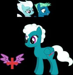 Size: 2109x2191 | Tagged: safe, artist:littlejurnalina, fleetfoot, sky stinger, oc, pegasus, pony, female, mare, offspring, parent:fleetfoot, parent:sky stinger, simple background, transparent background