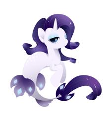Size: 4800x5600 | Tagged: safe, artist:xsatanielx, rarity, seapony (g4), unicorn, my little pony: the movie, absurd resolution, female, rcf community, seaponified, seapony rarity, solo, species swap