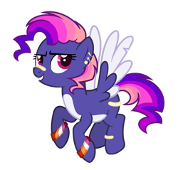 Size: 1024x977 | Tagged: safe, artist:sapphiretwinkle, oc, pegasus, pony, female, magical lesbian spawn, mare, offspring, parent:pinkie pie, parent:rainbow dash, parents:pinkiedash, simple background, solo, transparent background, two toned wings, wings