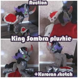 Size: 2000x2000 | Tagged: safe, artist:kuroran, king sombra, unicorn, advertisement, auction, plushie