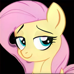 Size: 1024x1024 | Tagged: safe, artist:thisponydoesnotexist, bedroom eyes, neural network, not fluttershy