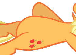 Size: 5765x4124 | Tagged: safe, artist:tardifice, edit, vector edit, applejack, buckball season, belly, cropped, featureless crotch, high res, lying down, pictures of bellies, simple background, solo, transparent background, vector