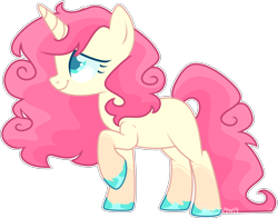 Size: 2720x2136 | Tagged: safe, artist:kurosawakuro, oc, pony, unicorn, female, magical lesbian spawn, mare, offspring, parent:bon bon, parent:lyra heartstrings, parents:lyrabon, simple background, solo, transparent background