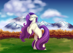 Size: 3500x2528 | Tagged: safe, artist:shamy-crist, oc, oc only, pony, unicorn, bipedal, female, mare, not rarity, rearing, solo