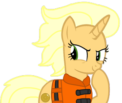 Size: 1282x1080 | Tagged: safe, artist:徐詩珮, sungold, pony, unicorn, series:sprglitemplight diary, series:sprglitemplight life jacket days, series:springshadowdrops diary, series:springshadowdrops life jacket days, base used, female, lifejacket, mare, simple background, solo, transparent background