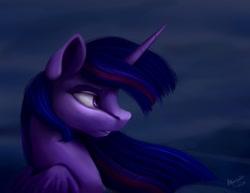Size: 1280x990 | Tagged: safe, artist:allforyouart, twilight sparkle, alicorn, pony, dark, female, mare, solo, twilight sparkle (alicorn)