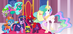 Size: 2340x1080 | Tagged: safe, artist:徐詩珮, fizzlepop berrytwist, glitter drops, grubber, princess celestia, spike, spring rain, tempest shadow, twilight sparkle, alicorn, dragon, hedgehog, pony, unicorn, series:sprglitemplight diary, series:sprglitemplight life jacket days, series:springshadowdrops diary, series:springshadowdrops life jacket days, my little pony: the movie, alternate universe, bisexual, broken horn, chase (paw patrol), clothes, crying, cute, female, glitterbetes, glitterlight, glittershadow, horn, lesbian, lifeguard, lifeguard spring rain, magic, male, mare, marshall (paw patrol), paw patrol, polyamory, rocky (paw patrol), rubble (paw patrol), shipping, skye (paw patrol), sprglitemplight, springbetes, springdrops, springlight, springshadow, springshadowdrops, tears of joy, tempestbetes, tempestlight, twilight sparkle (alicorn), zuma (paw patrol)