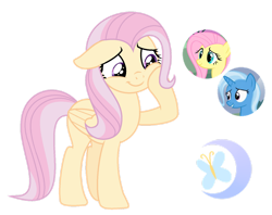 Size: 1280x1014 | Tagged: safe, artist:cottoncandy1210, fluttershy, trixie, oc, base used, female, lesbian, magical lesbian spawn, offspring, parent:fluttershy, parent:trixie, parents:trixieshy, shipping, simple background, transparent background, trixieshy
