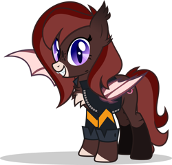 Size: 1280x1231 | Tagged: safe, artist:mlp-trailgrazer, oc, bat pony, pony, clothes, female, jacket, mare, simple background, solo, transparent background