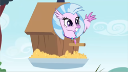 Size: 1278x720 | Tagged: safe, edit, edited screencap, screencap, silverstream, bird house, solo
