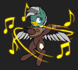 Size: 1814x1629 | Tagged: safe, artist:thehuskylord, oc, oc:duk, bird, duck, duck pony, ponyfinder, bard, dungeons and dragons, fantasy class, lute, music, pen and paper rpg, quack, quak, rpg