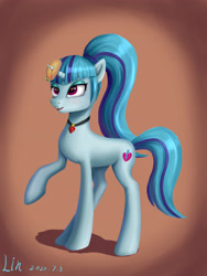 Size: 3543x4724 | Tagged: safe, artist:lin feng, sonata dusk, pony, unicorn, female, food, mare, ponified, sonataco, species swap, taco