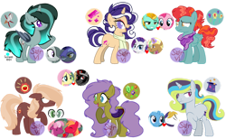 Size: 1280x786 | Tagged: safe, artist:servirant, big macintosh, cheerilee, fluttershy, king sombra, lightning dust, marble pie, prince blueblood, rarity, trenderhoof, trixie, oc, bluetrix, cheerimac, female, male, offspring, parent:big macintosh, parent:cheerilee, parent:fluttershy, parent:king sombra, parent:lightning dust, parent:marble pie, parent:prince blueblood, parent:rarity, parent:trenderhoof, parent:trixie, parents:bluetrix, parents:cheerimac, parents:sombrashy, parents:trenderity, royal guard, shipping, simple background, sombrashy, straight, transparent background, trenderity