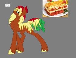 Size: 2796x2128 | Tagged: safe, artist:nightshade-warroir, oc, oc:lasagne, food pony, original species, pony, food, high res, ponified, solo
