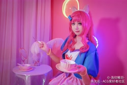 Size: 6000x4000 | Tagged: safe, artist:-洛欣曦羽-, pinkie pie, human, clothes, cosplay, costume, cup, irl, irl human, photo, solo, teacup