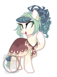 Size: 714x966 | Tagged: safe, artist:elementbases, artist:manella-art, oc, oc only, oc:green cupcakes, earth pony, pony, base used, colored pupils, female, mare, offspring, parent:cheese sandwich, parent:pinkie pie, parents:cheesepie, raised hoof, simple background, solo, transparent background