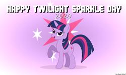 Size: 2400x1440 | Tagged: safe, artist:faze-alan-mskull2019, twilight sparkle, pony, unicorn, cute, female, mare, smiling, solo, twiabetes, twilight sparkle day, unicorn twilight