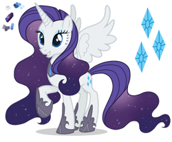 Size: 1280x1058 | Tagged: safe, artist:magicuniclaws, rarity, alicorn, pony, alicornified, race swap, raricorn, simple background, solo, transparent background