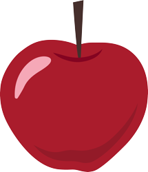 Size: 3000x3490 | Tagged: safe, artist:cloudyglow, bats!, apple, food, no pony, simple background, transparent background, vector