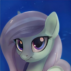 Size: 1024x1024 | Tagged: safe, artist:thisponydoesnotexist, oc, pony, blue eyes, cute, female, looking at you, mare, neural network, smiling