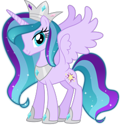 Size: 4358x4500 | Tagged: safe, artist:digimonlover101, oc, oc:star blossom, alicorn, pony, absurd resolution, crown, female, jewelry, looking at you, mare, regalia, simple background, solo, transparent background
