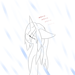 Size: 1000x1000 | Tagged: safe, artist:kaggy009, oc, oc:peppermint pattie (unicorn), pony, unicorn, ask peppermint pattie, female, mare, rain, solo