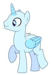 Size: 2160x3048 | Tagged: safe, artist:lazuli, oc, oc only, alicorn, pony, alicorn oc, bald, base, horn, male, raised hoof, simple background, solo, stallion, transparent background, wings