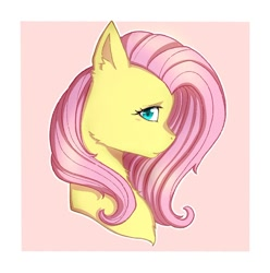 Size: 914x921 | Tagged: safe, alternate version, artist:sketchsecrett, fluttershy, pegasus, pony, bust, cheek fluff, chest fluff, ear fluff, female, mare, solo