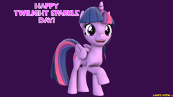 Size: 1920x1080 | Tagged: safe, artist:lance-pizon, twilight sparkle, alicorn, 3d, female, sfm pony, solo, source filmmaker, twilight sparkle (alicorn), twilight sparkle day