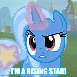 Size: 500x500 | Tagged: safe, trixie, cropped, meme, text