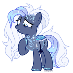 Size: 1900x1900 | Tagged: safe, alternate version, artist:shineyaris, oc, oc only, oc:crystal ballad, earth pony, clothes, earth pony oc, female, mare, simple background, solo, white background