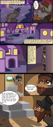 Size: 1280x3047 | Tagged: safe, artist:mr100dragon100, oc, oc:matthew, comic:new beginnings and new friends, adam (frankenstein monster), comic, dark forest au's dr. jekyll and mr. hyde, griffin (character), homeless, night