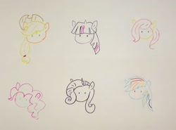 Size: 2912x2150 | Tagged: safe, artist:katy木土, applejack, fluttershy, pinkie pie, rainbow dash, rarity, twilight sparkle, mane six