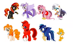 "Size: 1280x786 | Tagged: safe, artist:evergreen2024, artist:selenaede, applejack, fluttershy, pinkie pie, rainbow dash, rarity, spike, sunset shimmer, twilight sparkle, alicorn, amy rose, base used, blaze the cat, cream the rabbit, knuckles the echidna, mane eight, mane seven, mane six, miles ""tails"" prower, rouge the bat, shadow the hedgehog, simple background, sonic the hedgehog, sonic the hedgehog (series), twilight sparkle (alicorn), white background"
