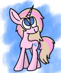 Size: 1204x1428 | Tagged: safe, artist:rainbowbacon, oc, pony, unicorn, solo