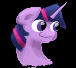 Size: 1920x1704 | Tagged: safe, artist:khaki-cap, twilight, twilight sparkle, alicorn, unicorn, big eyes, bust, digital art, female, googly eyes, head shot, hmmmmmmm, lol, mrs.spronkle, portrait, silly face, simple background, solo, solo female, transparent background, twilight sparkle (alicorn), unicorn twilight, wide mouth