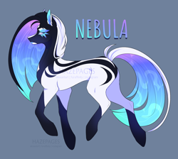Size: 2010x1800 | Tagged: safe, artist:hazepages, oc, oc:nebula, earth pony, pony, female, mare, simple background, solo
