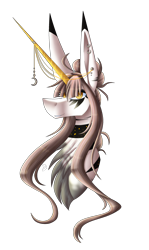 Size: 1672x2813 | Tagged: safe, artist:sadatrix, oc, oc:ix chel, pony, unicorn, bust, colored horn, female, horn, mare, portrait, simple background, solo, transparent background