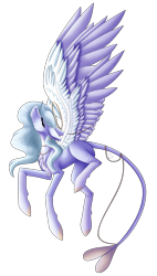 Size: 1515x2674 | Tagged: safe, artist:sadatrix, oc, oc:khaleesi, pegasus, pony, colored wings, female, mare, simple background, solo, transparent background, two toned wings, wings