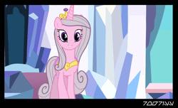 Size: 1288x782 | Tagged: safe, edit, edited screencap, editor:teren rogriss, screencap, princess cadance, princess celestia, alicorn, pony, princess molestia, crystal empire, mane swap