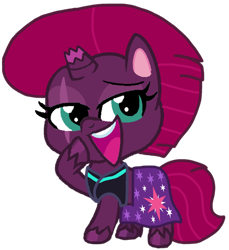Size: 966x1055 | Tagged: safe, artist:徐詩珮, fizzlepop berrytwist, tempest shadow, pony, unicorn, series:sprglitemplight diary, series:sprglitemplight life jacket days, series:springshadowdrops diary, series:springshadowdrops life jacket days, my little pony: pony life, broken horn, clothes, horn, simple background, transparent background