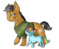 Size: 1900x1591 | Tagged: safe, artist:datwhoolsumcartunist, quibble pants, clothes, foal, parent:rainbow dash