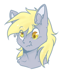 Size: 1791x2000 | Tagged: safe, artist:leawarriors, derpy hooves, pony, derp, simple background, sketch, solo, transparent background