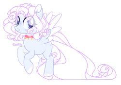 Size: 2927x2049 | Tagged: safe, artist:lazuli, oc, oc only, pegasus, pony, base used, choker, colored hooves, eye clipping through hair, pegasus oc, simple background, smiling, solo, transparent background, two toned wings, wings