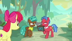 Size: 1920x1080 | Tagged: safe, screencap, apple bloom, biscuit, spur, growing up is hard to do, older, older apple bloom