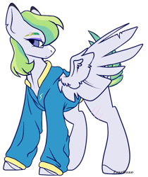 Size: 786x934 | Tagged: safe, artist:fuxebuxe, oc, oc:swift torrent, pegasus, pony, base used, cashewverse, clothes, female, jacket, magical lesbian spawn, next generation, offspring, parent:rainbow dash, parent:spitfire, parents:spitdash, simple background, solo, transparent background