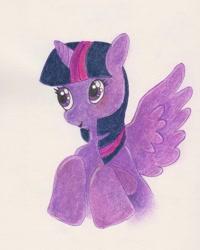 Size: 1080x1350 | Tagged: safe, alternate version, artist:artisa.es, twilight sparkle, alicorn, pony, bust, female, mare, solo, traditional art, twilight sparkle (alicorn)