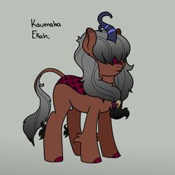 Size: 1200x1200   Tagged: safe, artist:pony quarantine, oc, oc only, oc:kaumaha ekahi, kirin, female, kirin oc, mare, skull, solo, text
