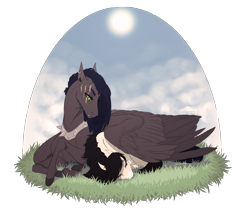 Size: 2400x2000 | Tagged: safe, artist:dementra369, oc, oc only, oc:ruby drop, earth pony, pegasus, pony, lying, scar, simple background, sleeping, transparent background